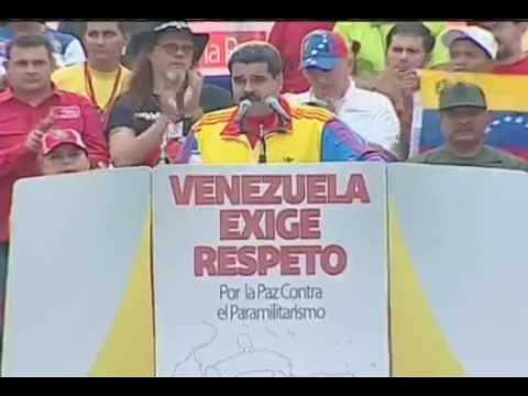 media discurso de maduro ayer en la avenida bolivar llam