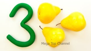 Learn Numbers, Counting and Colors for children with Play Doh VS Learn Names of Fruit and Vegetables