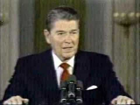 Reagan; Taxes and Budget Deficit: Revenue 19% of GDP; Spending is 23%; Revenue is sufficient