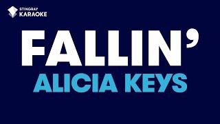 "Fallin' (Radio Version) in the Style of ""Alicia Keys"" karaoke video with lyrics (no lead vocal)"