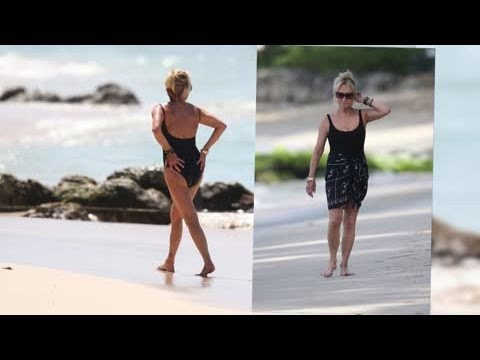 Swimsuit-Clad Felicity Kendal Enjoys the Good Life in the Caribbean - Splash News
