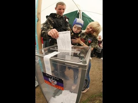 Pro-Russian rebels vote for self-rule in parts of eastern Ukraine