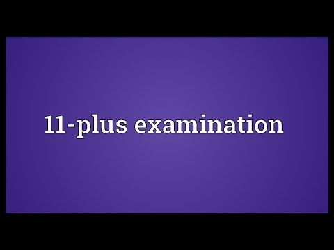 Header of 11-Plus Examination