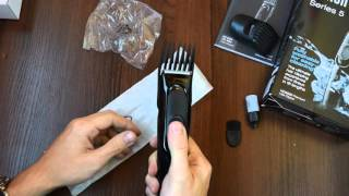 Unboxing and review hair clipper Braun HC5050