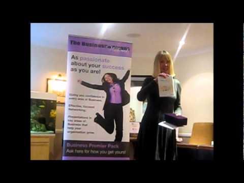 Meg Reid introducing Elene Marsden's Promo Slot