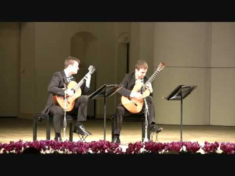 Duo Cologne plays Bach English Suite, BWV 807 - III. Courante