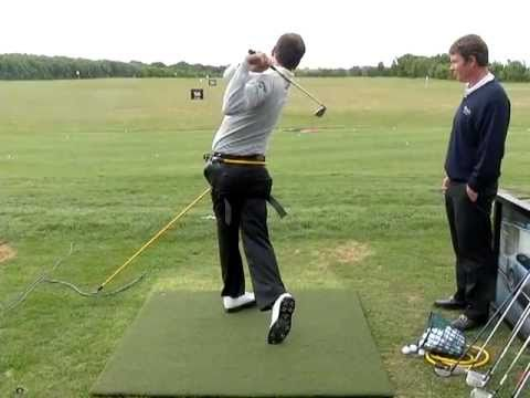 Nick Dougherty using the Power Hip Rotator at Golf Live 2011