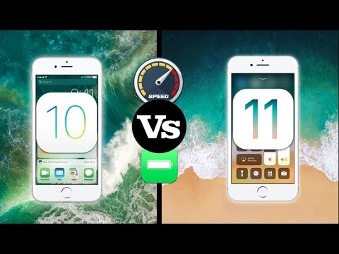 iOS 10.3.3 Vs iOS 11 Performance & Battery Comparison Test