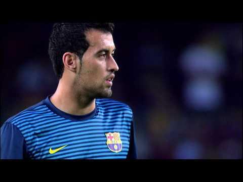Calentamiento del FC Barcelona