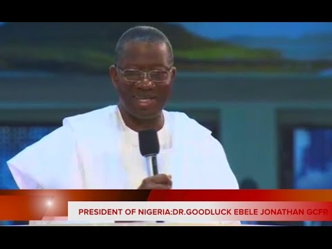 President Of Nigeria Dr. Goodluck Jonathan @ Faith Tabernacle Nigeria Jan.25 2015