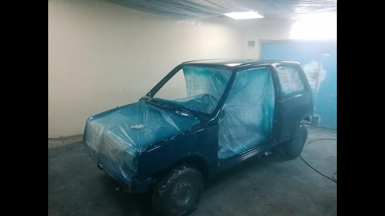 Покраска авто металликом своими руками в гараже 35