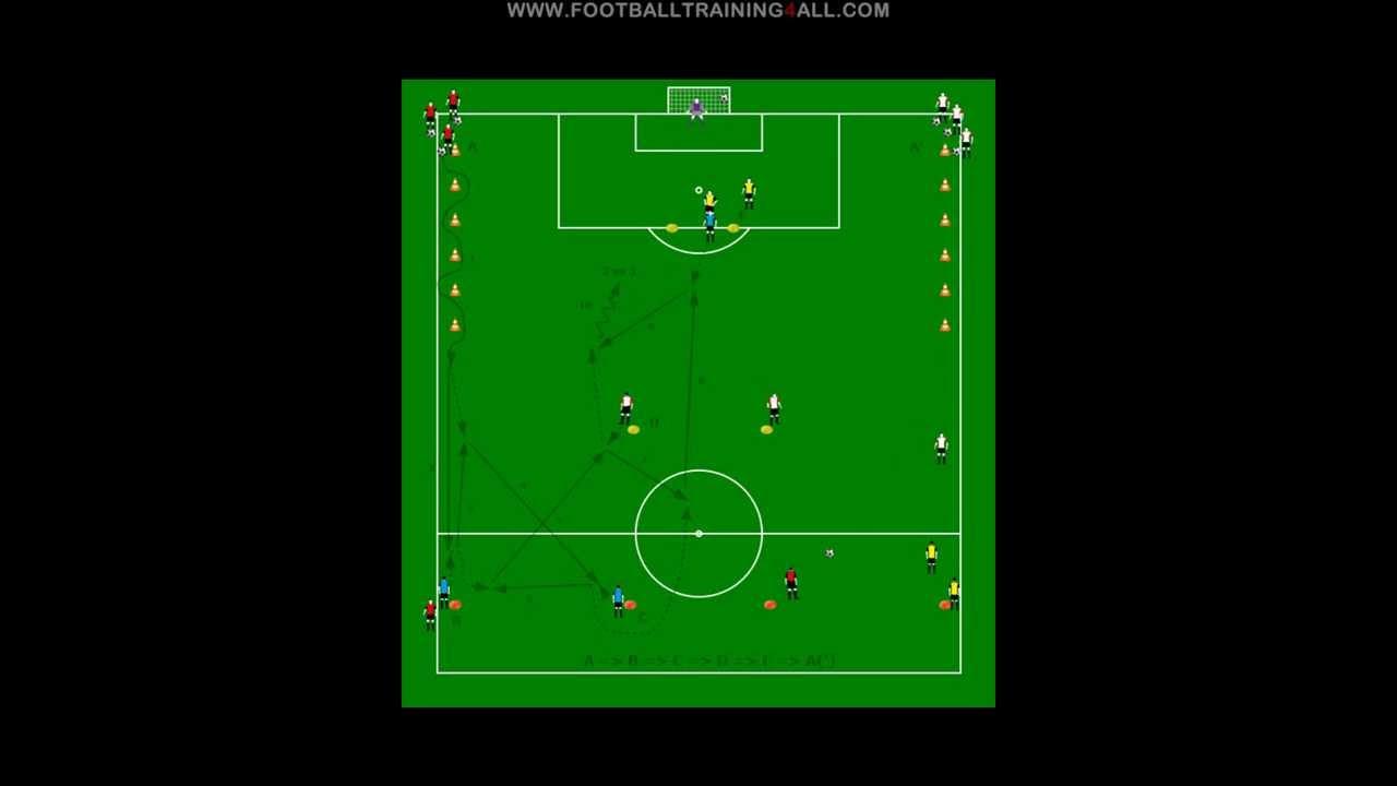 Marcar exercícios futebol - YouTube
