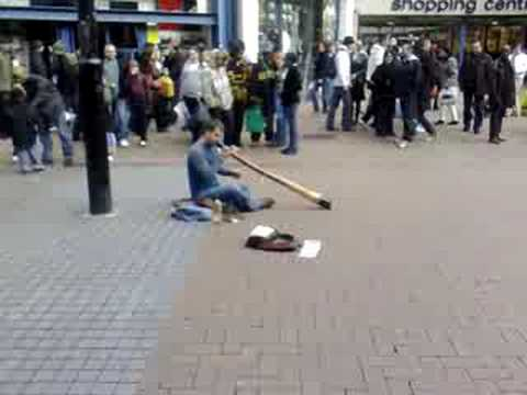Amazing street artist music performance