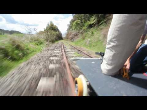 First Test Of Our Solar Powered Railway Trolley Youtube