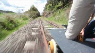 First test of our solar powered railway trolley