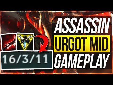 ASSASSIN URGOT IS MORE OP?! Full Dmg Lethality - Urgot Mid Gameplay - League of Legends