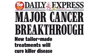 Daily Express (UK) cancer headline discussed by Andrew Saul