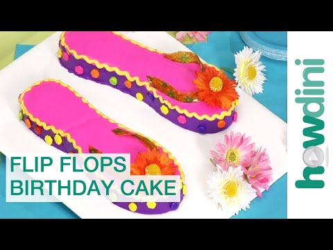 Flip flop cake - How to decorate a flip flop birthday cake