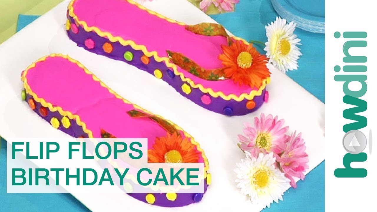 How To Make Flip Flop Birthday Cake