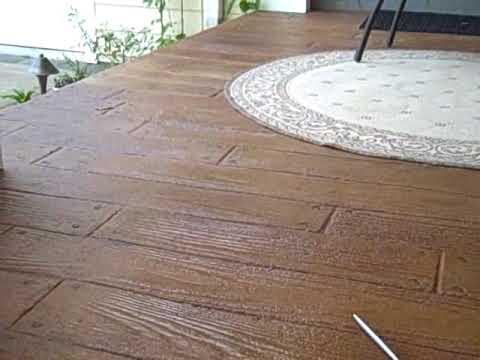 Stamped Concrete Boardwalk Plank Youtube