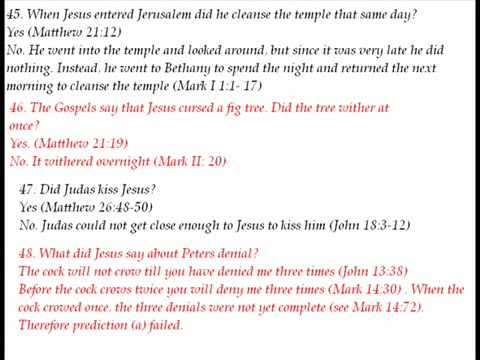 101 contradictions in the bible!