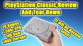 PlayStation Classic Review  And Tear Down : It will Be Hacked Soon!