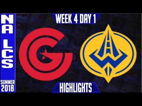 CG vs GGS HIGHLIGHTS   NA LCS Summer 2018 Week 4 Day 1   Clutch Gaming vs Golden Guardians