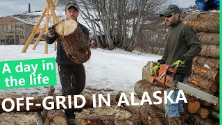 OFF-GRID LIVING IN ALASKA // a day in the life w/the Bramante Brothers