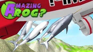 SHARK BLIMP RIDE - Amazing Frog - Part 83   Pungence