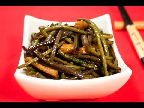 Косари-ча (салат из папоротника) видео рецепт