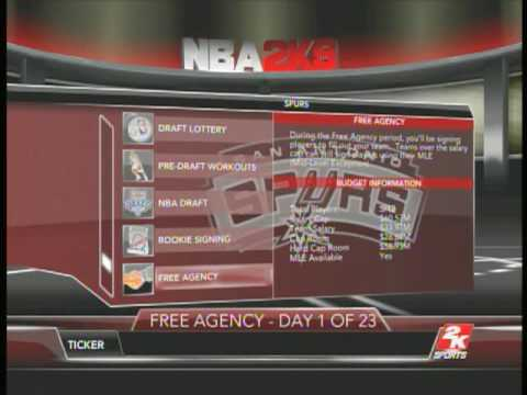NBA 2K9 - Sign Free Agent LeBron James in 2010