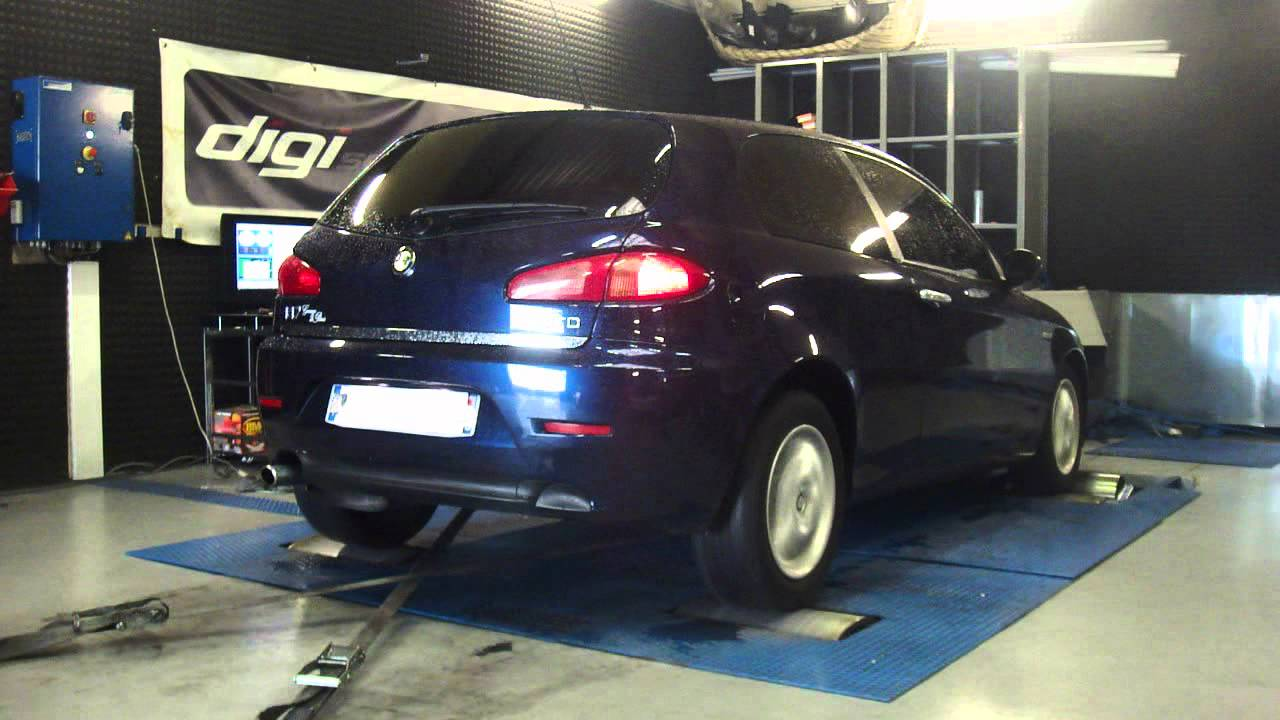 alfa 147 jtd 115cv 151cv reprogrammation moteur dyno digiservices youtube. Black Bedroom Furniture Sets. Home Design Ideas
