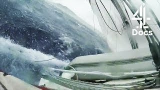 Ghastly Footage of a Boat Nearly Toppled Over by Waves