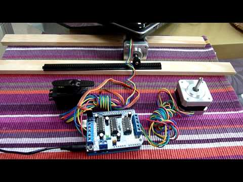 Trying to move a stepper motor back and forth - Stack