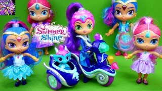 LOTS of Shimmer and Shine Doll Toys Zeta's Scooter Nazboo Flower Sprites Rainbow Zahramay Falls Toys