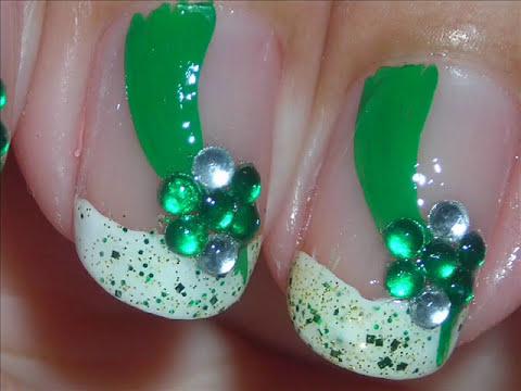 Nail Art - Green Sash - Diseño de Uñas