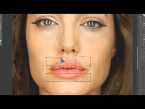Фотошоп. Ретушь, коррекция кожи. Анджелина Джоли.