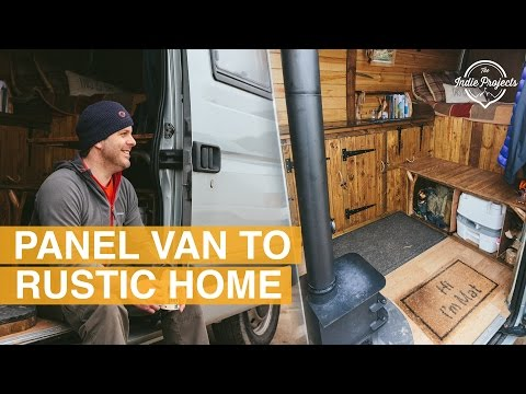 Beautiful Rustic Self Build Van Tour