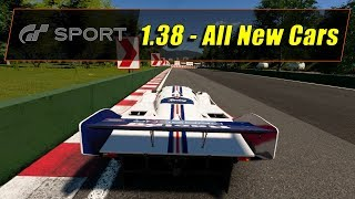GT Sport - 1.38 Update - Driving All New Cars (1080@60)