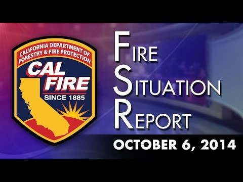 October 6, 2014 - The Fire Situation Report