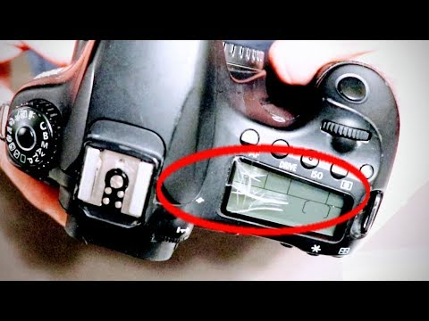 How To Fix Cracked Broken Top LCD Screen on Canon DLSR Digital Camera or Nikon Display