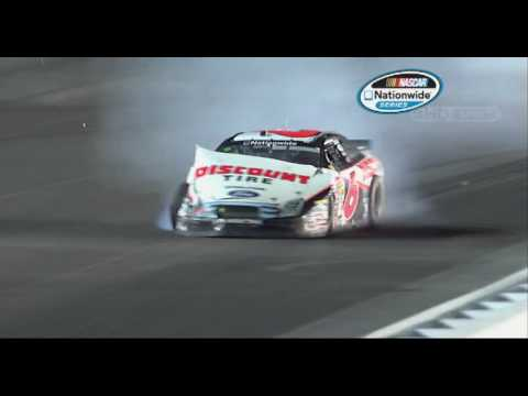 NNS - David Ragan wrecks at Darlington Raceway Video