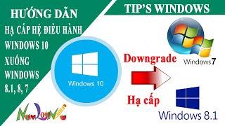 Cách hạ cấp từ Windows 10 xuống Windows 7, Windows 8 hoặc 8.1 (cách 1) | Namloan
