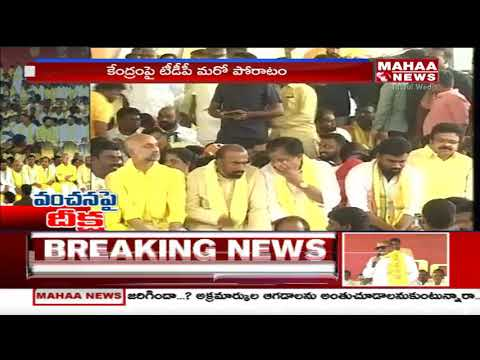 MP CM Ramesh Emotional Speech At TDP MPs Stage Protest | Mahaa News