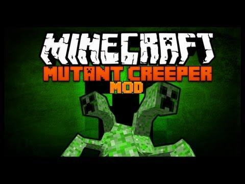 Minecraft Mod Spotlight - MUTANT CREEPER MOD 1.7.2 - SCARY CREEPERS !