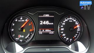 2016 Audi RS3 (367hp) - 0-250 km/h Launch Control (60FPS)