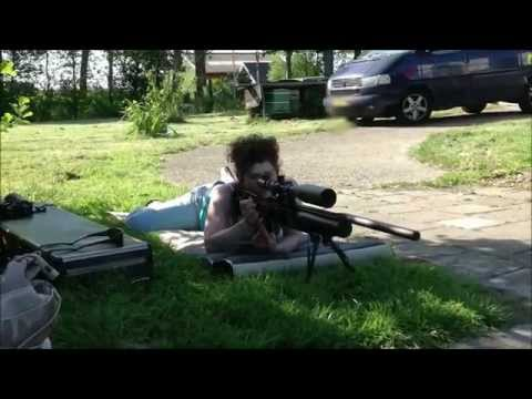 Fx Royale 500 Elite pcp air rifle / airgun at 100 meter / 109 yard