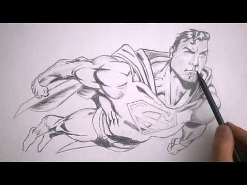superman (marvel style) speed drawing