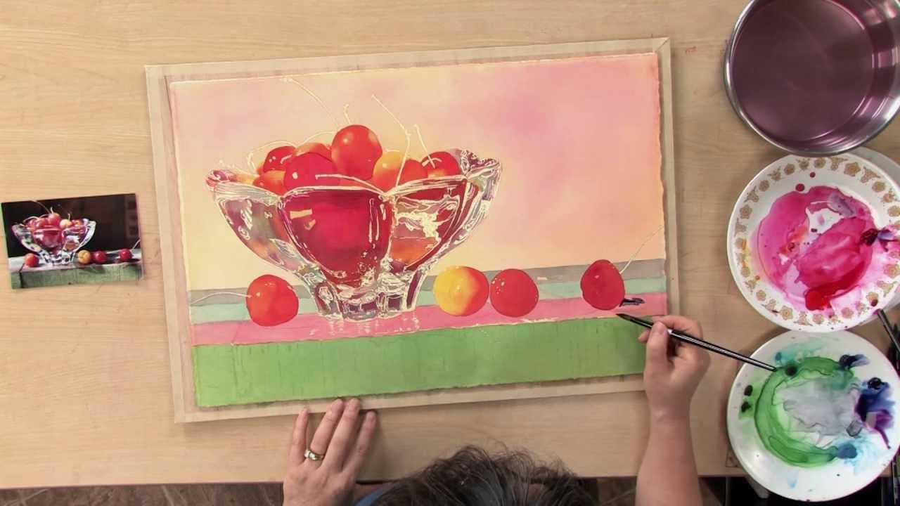 Vibrant watercolor techniques painting glass with soon y for Glass painting techniques
