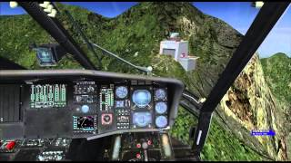 FSX HELI fly high altitude and  Settling with power (高空帶動力下沈狀況落地)